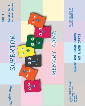 Colours - Matching Memory Game - Kindergarten Grade 1 (1st Grade)