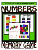 Memory Games - Numbers Matching Memory Game- Kindergarten Grade 1 (1st Grade)