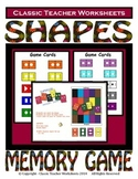 Memory Games - Shapes Matching Memory Game- Kindergarten Grade 1 (1st Grade)