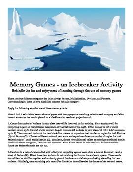Memory Games - an Icebreaker Activity