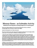 Memory Games - an Icebreaker Activity