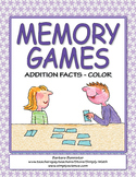 Memory Games for Addition Facts