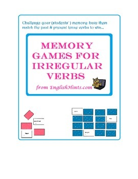 Memory Games for Irregula Verbs.