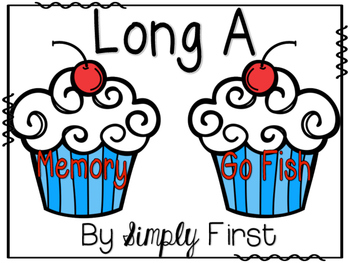 Memory & Go Fish Game Cards: Long A