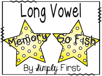 Memory & Go Fish Game Cards: Long Vowels