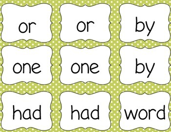 Memory Gone Wild!! A Memory Game with Fry Words 26-50
