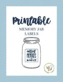Memory Jar Printables