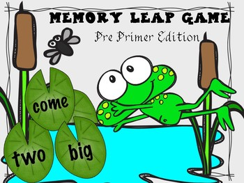 Memory Leap Game- Pre Primer Sight Words