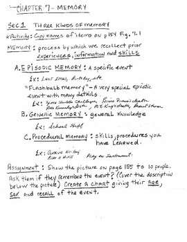 Memory Lecture Notes