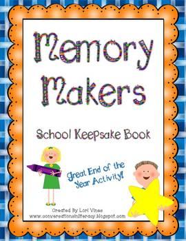 Memory Makers:  A School Year Keepsake