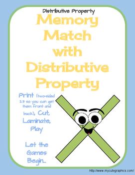 Memory Match Distributive Property of Multiplication