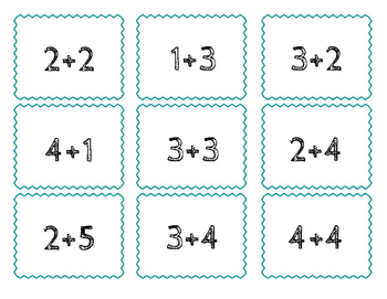 Memory Match- Addition to 20