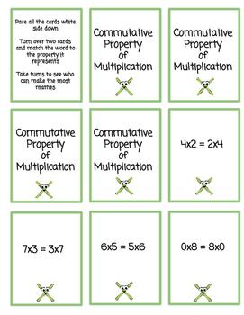 Memory Match- Commutative/Associative