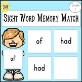 Memory Match Dolch First Grade Sight Words Game