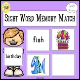 Memory Match Dolch Nouns Sight Words Game