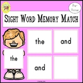 Memory Match Dolch Pre-Primer Sight Words Game