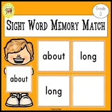 Memory Match Dolch Third Grade Sight Words Game