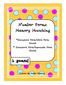Memory Match- Standard, Expanded, and Word Forms! Two games!
