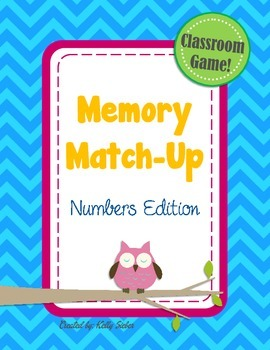 Memory Match-Up Game... Numbers!