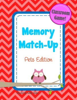 Memory Match-Up Game... Pets!