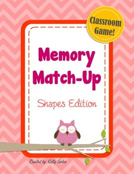 Memory Match-Up Game... Shapes!