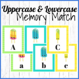 Memory Match Uppercase and Lowercase Letters
