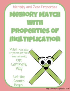 Memory Match- Zero/Identity Property