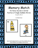 Memory Match for Early Sounds in Initial Position of  Word
