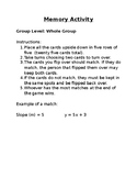 Memory Matching Activity Directions
