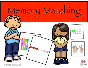 Memory Matching Game - Subitizing Numbers to 10