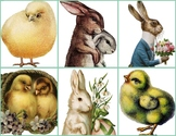 Memory Matching Game, Vintage EASTER Images
