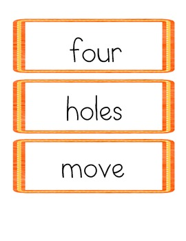 Memory Matching Game with Storytown Theme 5 High Frequency Words