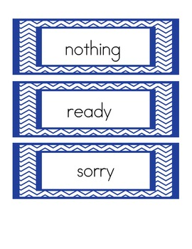 Memory Matching Game with Storytown Theme 6 High Frequency Words