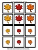 Memory Matching, Sorting, Counting Leaf Cards with 2 Corre