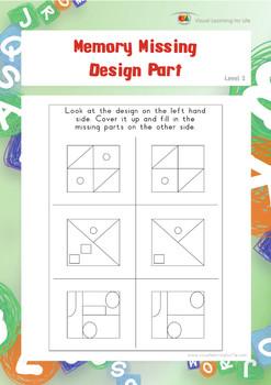 Memory Missing Design Part (Visual Memory Worksheets)