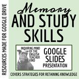 Memory, Mnemonics & Study Skills for High School - PowerPoint & Google Slideshow