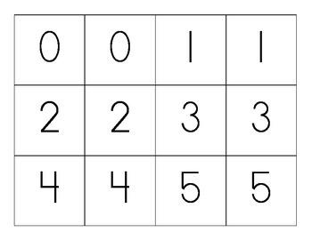 Memory Number Game 0-10