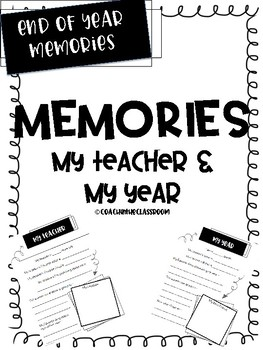 Memory Pages of My Year and My Teacher
