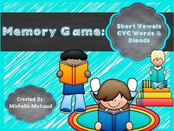 CVC & Blends- Phonics Memory Game