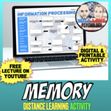 Memory | Psychology | Distance Learning Activity
