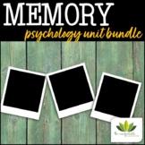 Memory: Psychology *UNIT BUNDLE*