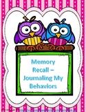Memory Recall - Journal My Behaviors