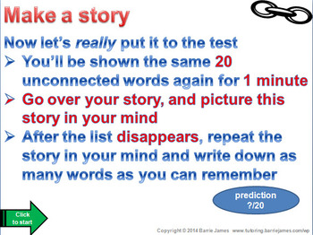 Memory - Strategies 1: Linking and Stories