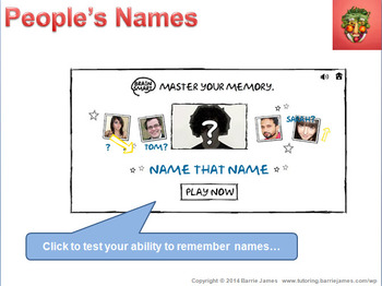 Memory - Strategies 3: Names and Faces