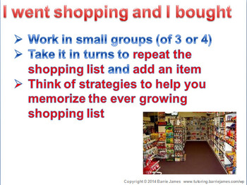 Memory - Strategies 4: Lists