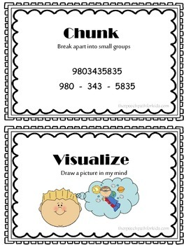 Memory Strategies & Visual Cues {freebie}