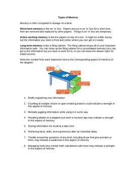 Memory Unit - Study Skills, Test Preparation, Long-Term and Short-Term Memory