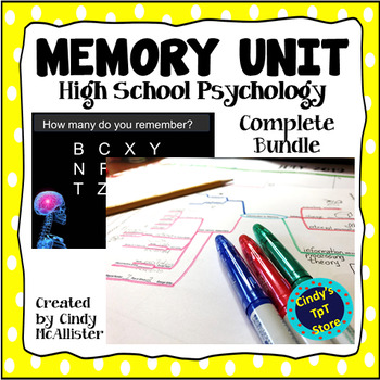 Memory Unit for High School Psychology