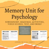 Memory Unit for Psychology: PPT, Readings, Activities, Test, & More! Distance Le