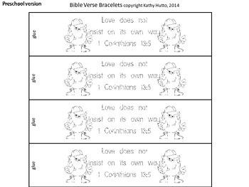 Memory Verse Bracelets - Love Is  (1 Corinthians 13:1-8)
